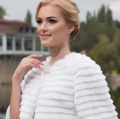 Bridal faux fur coats