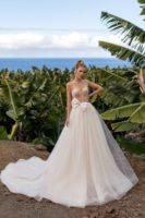 A-line beach wedding dress