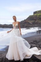 beach wedding A-line wedding dress