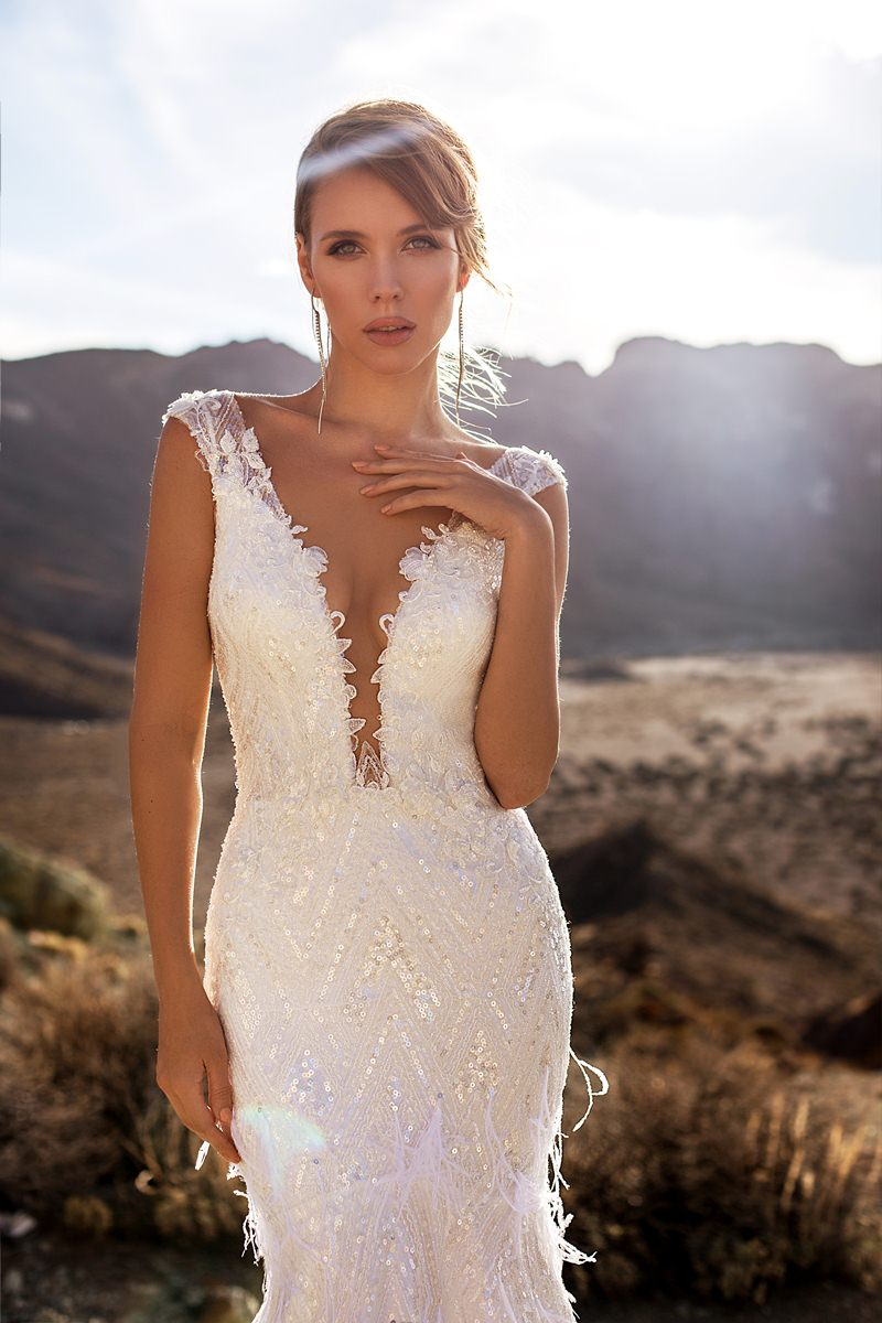mermaid wedding dress with sequins