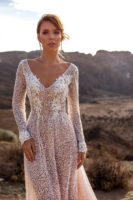lace bridal gown with long sleeves
