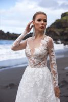 bridal gown with long sleeves