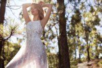 hi neck wedding gown
