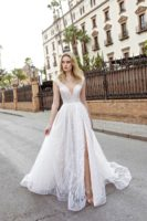 a-line bridal gown with slit