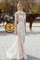 wedding gown mermaid with long sleeves