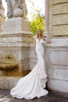 wedding gown mearmaid with long train