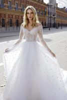 wedding dress ballgown with long sleeves