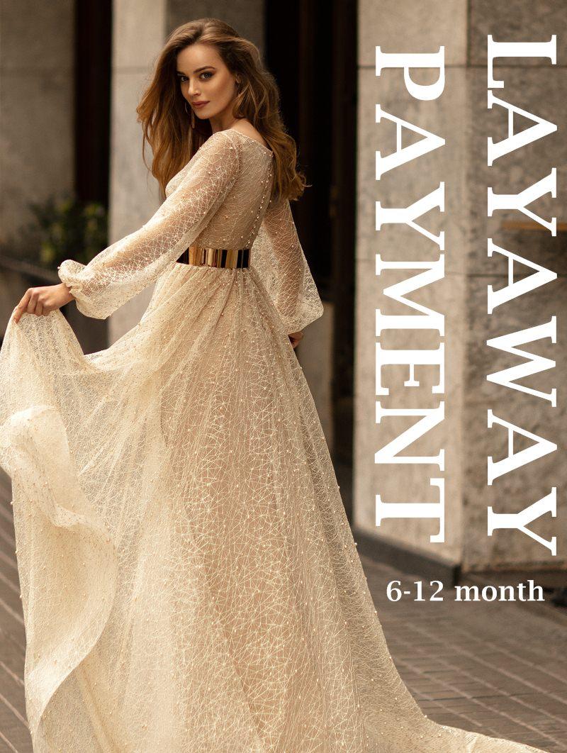 LAYAWAY plan bridal gown