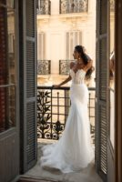 mermaid shape wedding dress OBRI