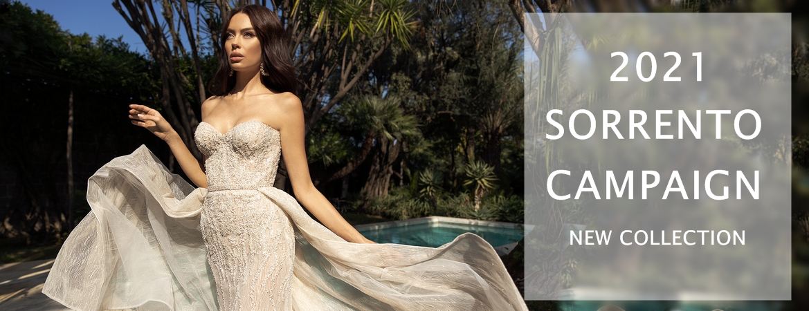 sorrento campaign new wedding dresses collection 2021