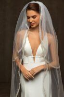 veil with shiny decor 2 layers 2,80*1,50m
